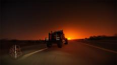 truck sunset