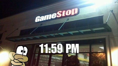 A regular Gamestop on the night of the Wii-U launch.