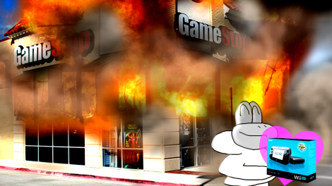 sheep gamestop on fire