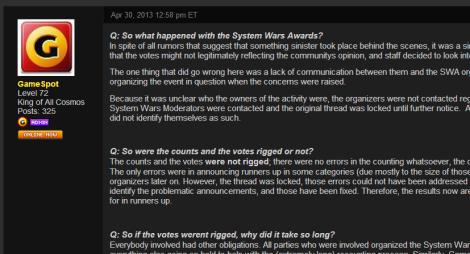 gamespot swa results