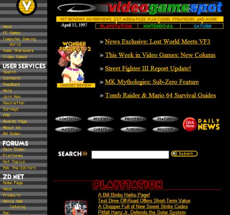 Videogamespot.com on April 13, 1997