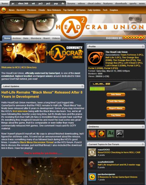 Real Headcrab Union