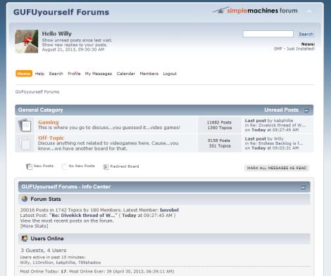 GUFUyourself forums