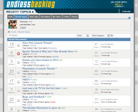endless backlog forum